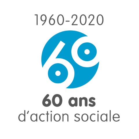 Logo CGOS - 60 ans d'actions sociale
